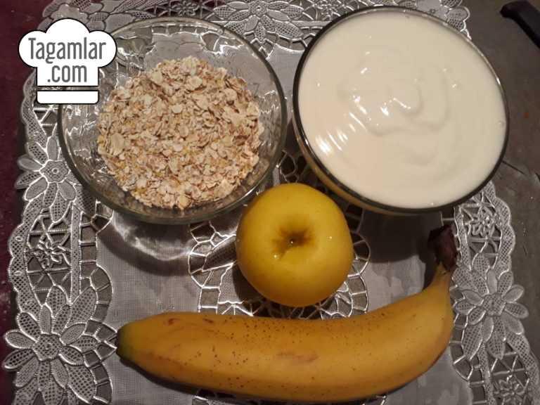 Smoothie banan, alma, hlopya (smuzi) surat 1