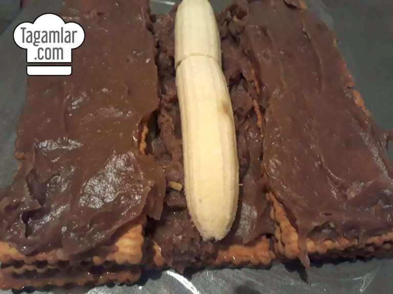Banan we kökeden piramida keks surat 4