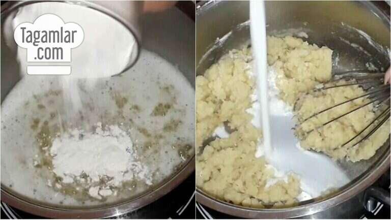 Süýtli karamelli desert surat 1