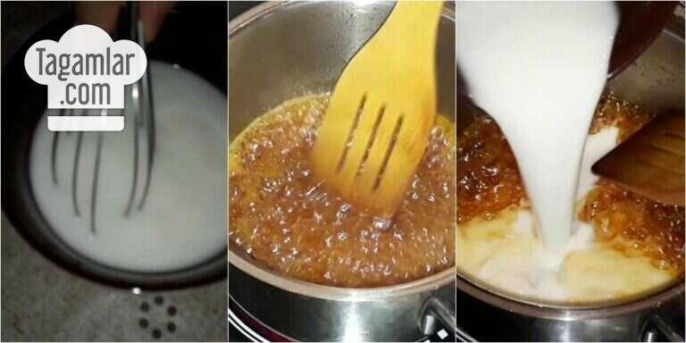 Süýtli karamelli desert surat 4